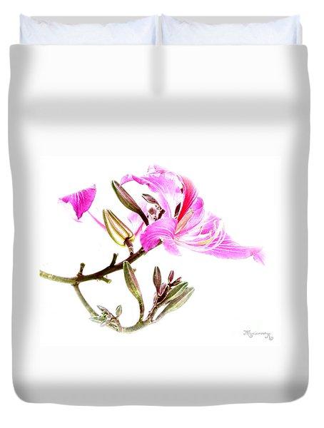 Tulip Tree Flowers Duvet Cover