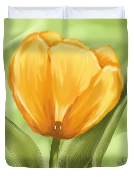 Tulip Duvet Cover by Veronica Minozzi