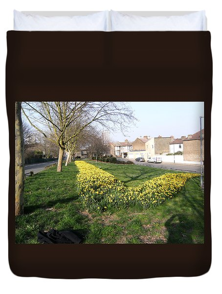 Duvet Cover featuring the photograph  One Summer Day - 2014 At Upper Road - Plaistow by Mudiama Kammoh