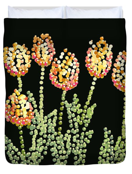 Tulips Bedazzled Duvet Cover
