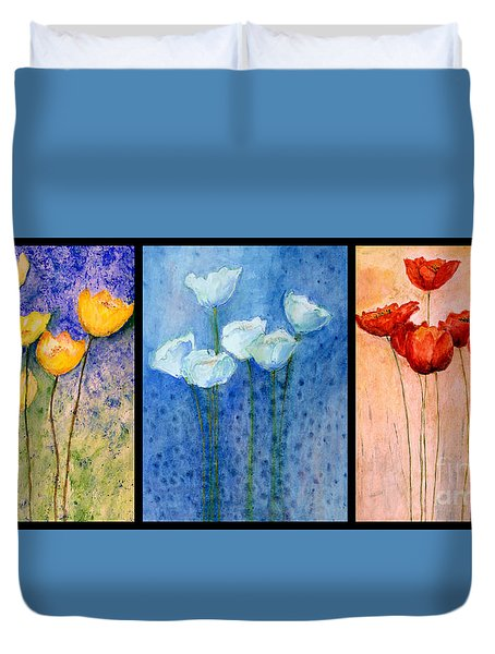 Tulips Collage  Duvet Cover