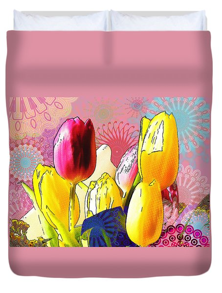 Tulips Duvet Cover by Christo Christov