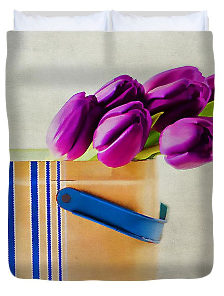 Tulips For Mom Duvet Cover by Darren Fisher