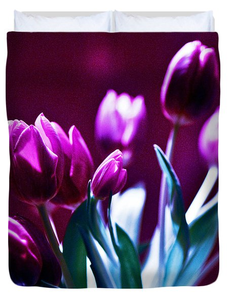 Tulips In Purple Duvet Cover