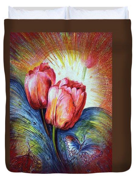 Tulips Duvet Cover by Harsh Malik