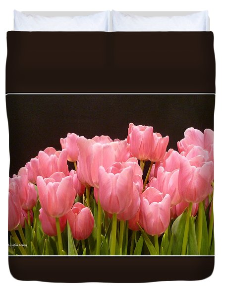 Tulips In Bloom Duvet Cover by Lingfai Leung