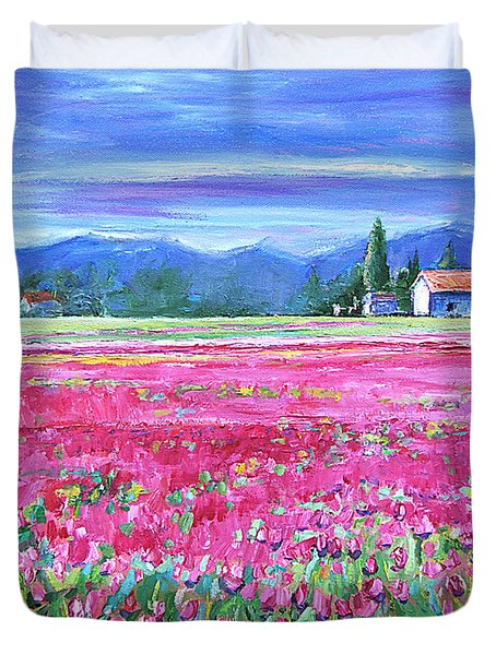 Tulips In Spring Duvet Cover