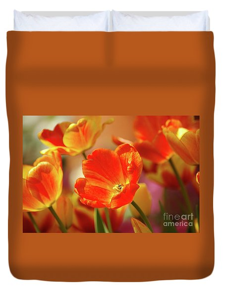 Tulips Duvet Cover by Kathleen Struckle