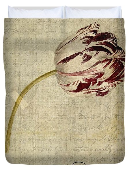 Tulips - S01bt2t Duvet Cover by Variance Collections