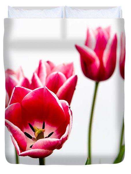 Tulips Say Hello Duvet Cover