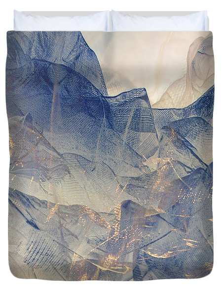 Tulle Mountains Duvet Cover by Klara Acel