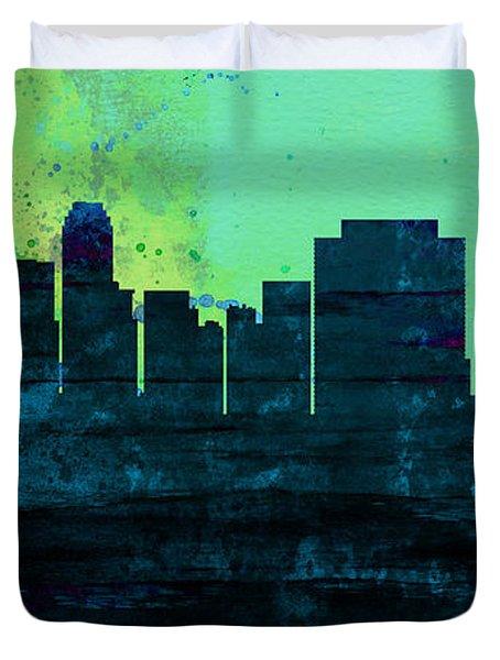 Tulsa City Skyline Duvet Cover