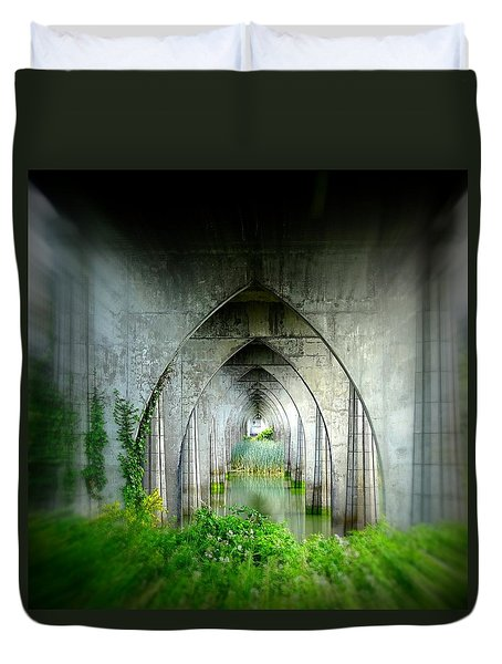 Duvet Cover featuring the photograph Tunnel Effect by Nick Kloepping