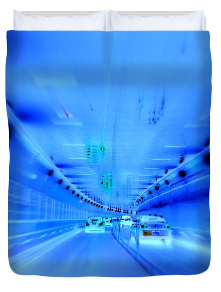 Tunnel Tension Duvet Cover by Ed Weidman