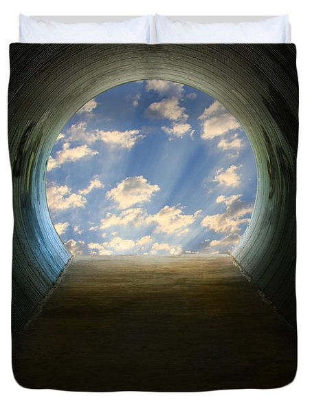 Tunnel With Light Duvet Cover