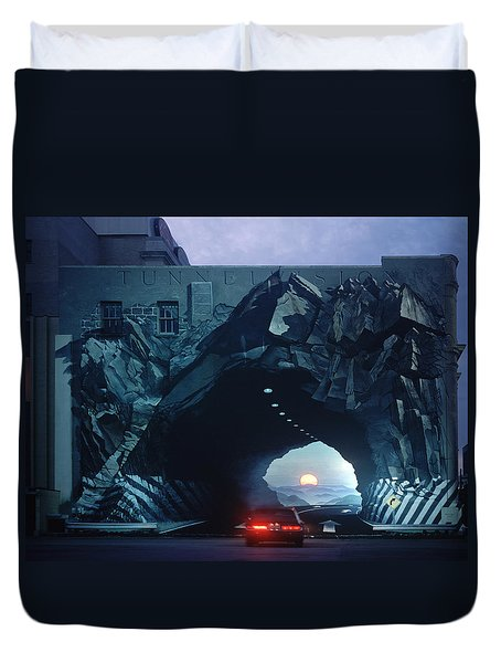 Tunnelvision Duvet Cover by Blue Sky
