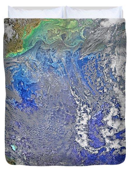 Turbulence In The Atlantic Ocean Duvet Cover