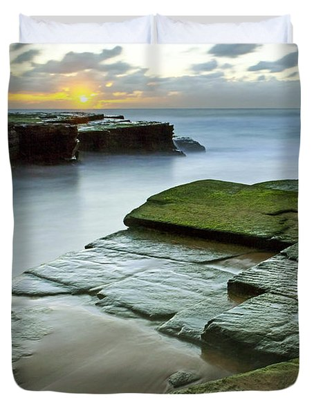 Turimetta Beach Sunrise Duvet Cover