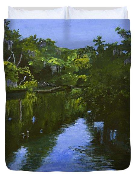 Turkey Creek Duvet Cover by Roger Wedegis