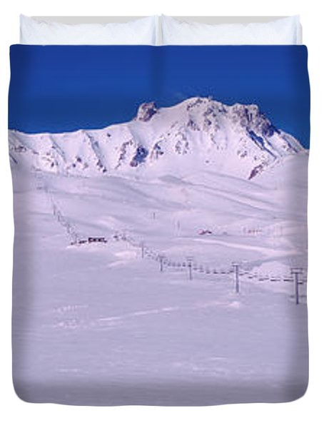 Turkey, Ski Resort On Mt Erciyes Duvet Cover