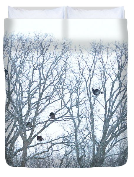 Duvet Cover featuring the photograph Turkey Tree by Dacia Doroff