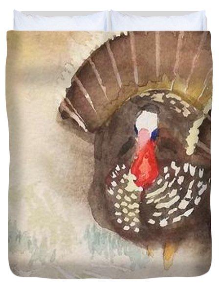 Turkeys Duvet Cover by Yoshiko Mishina