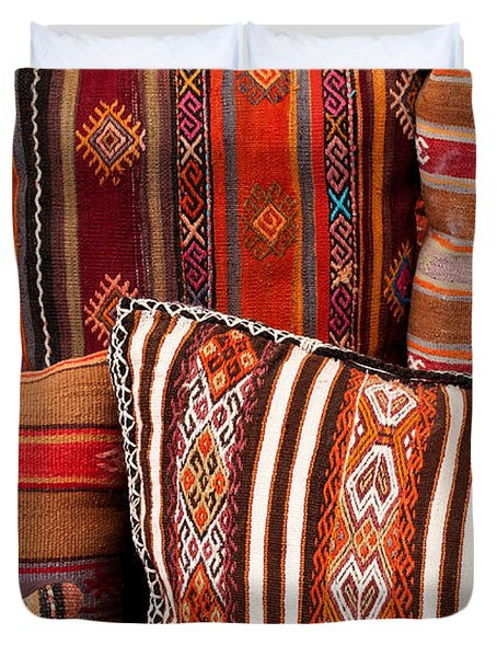 Turkish Cushions 01 Duvet Cover by Rick Piper Photography