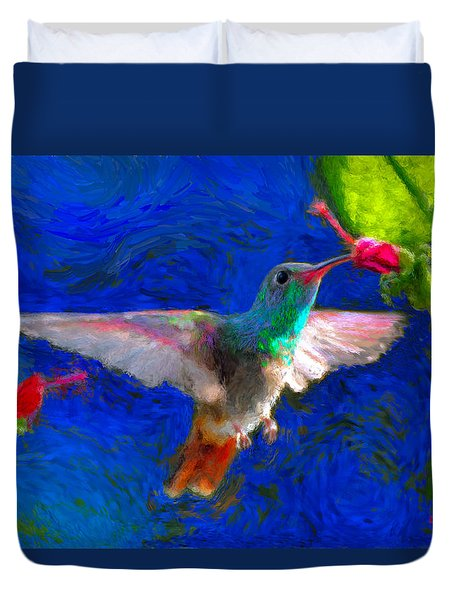 Da052 Turkscap Hummingbird  Duvet Cover