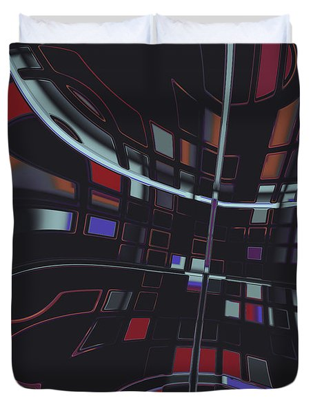 Duvet Cover featuring the digital art Turmoil by Judi Suni Hall