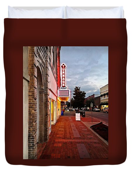 Turnage Theater Grand Opening Duvet Cover