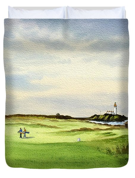 Turnberry Golf Course Scotland 12th Tee Duvet Cover