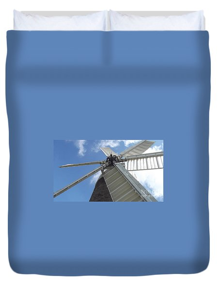 Duvet Cover featuring the photograph Turning In The Wind by Tracey Williams
