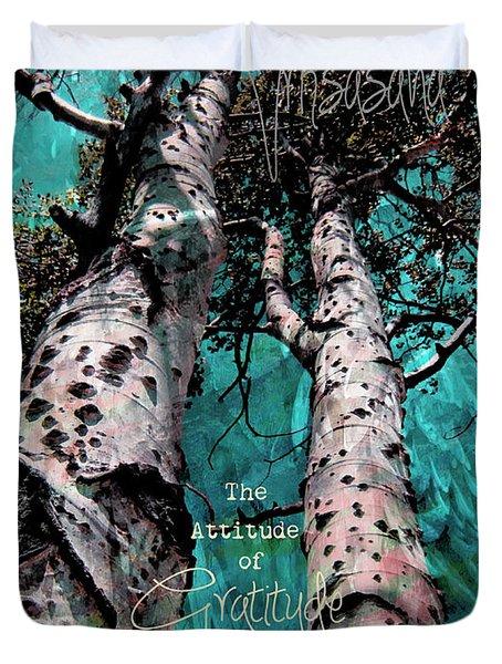 Turquois Trees  Duvet Cover