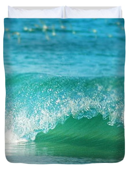 Turquois Waves  Duvet Cover