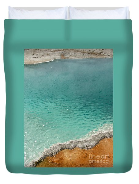 Turquoise Jewels Duvet Cover