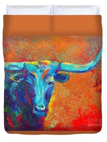 Turquoise Longhorn Duvet Cover