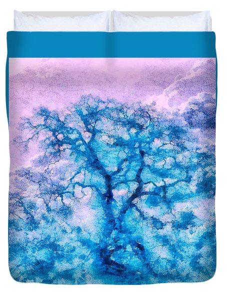 Turquoise Oak Tree Duvet Cover
