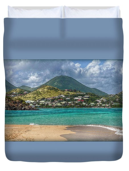 Turquoise Paradise Duvet Cover by Hanny Heim