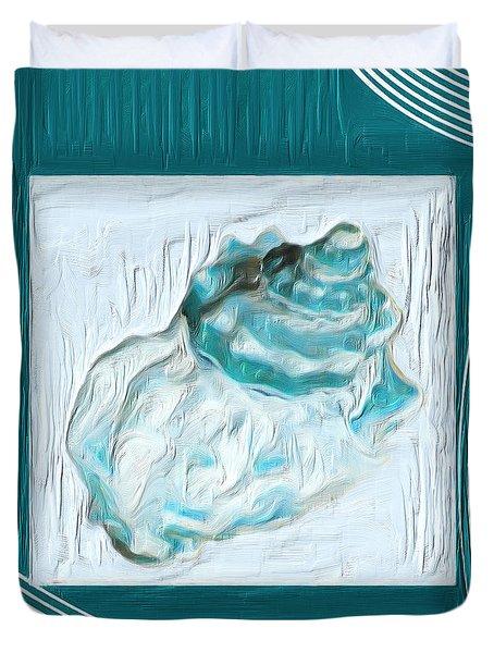 Turquoise Seashells Xxiv Duvet Cover