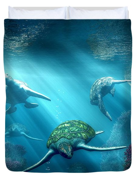 Turtle Alley Duvet Cover