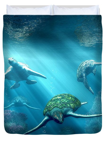 Turtle Alley Duvet Cover