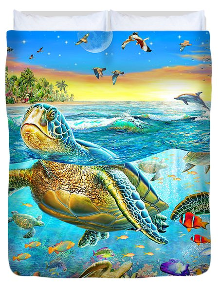 Turtle Cove Duvet Cover by Adrian Chesterman