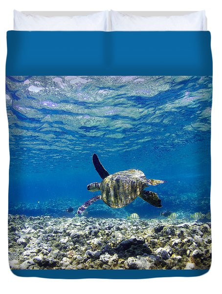 Turtle Cruise Duvet Cover