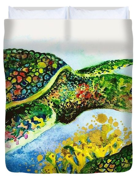 Turtle Love Duvet Cover