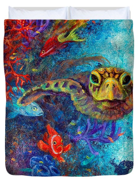 Turtle Wall 2 Duvet Cover