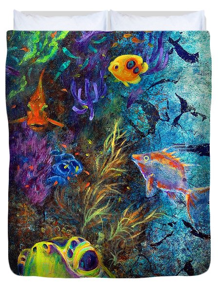 Turtle Wall 3 Duvet Cover