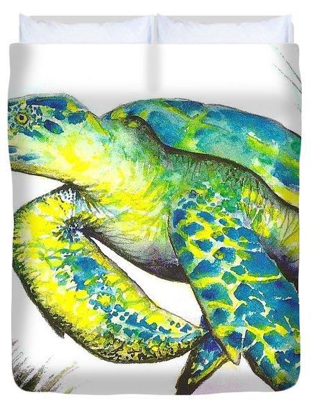 Turtle Wonder Duvet Cover