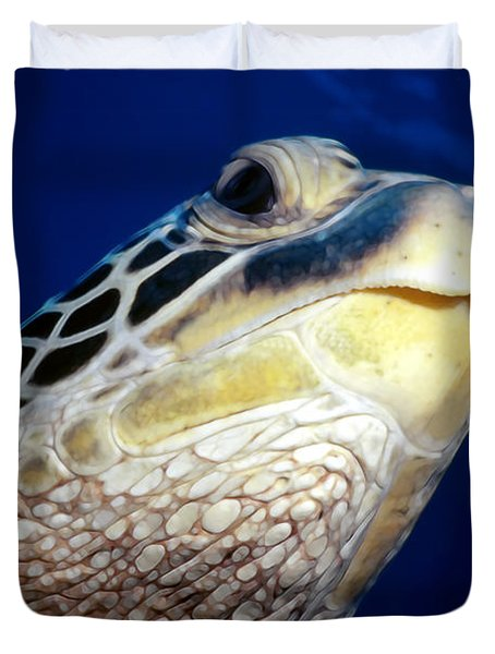 Turtles 1 Duvet Cover by Dawn Eshelman