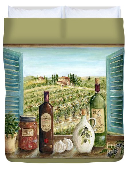 Tuscan Delights Duvet Cover by Marilyn Dunlap