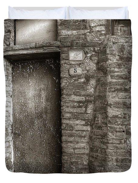Tuscan Doorway Duvet Cover